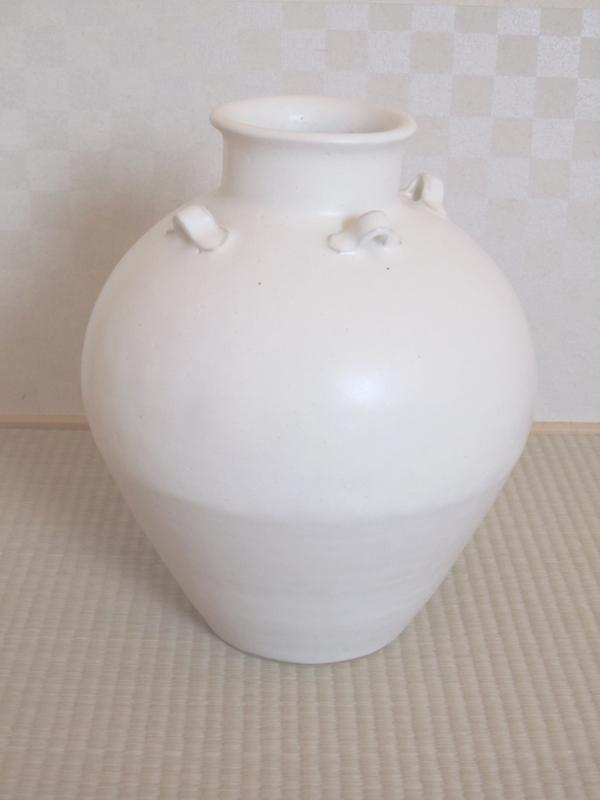仁清の茶壷似の白茶壷